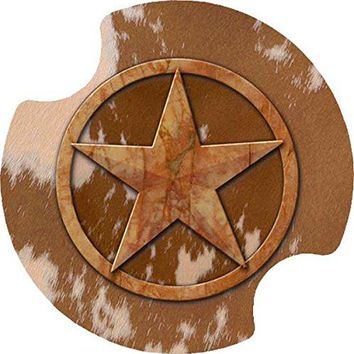 Thirstystone Texas Lone Star Car Cup Holder Coaster 2Pack