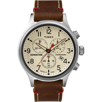Timex Expedition® Scout™ Chronograph Leather Watch - Brown Dial