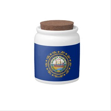 New Hampshire State Flag Candy Jar