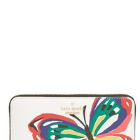 Women's kate spade new york 'wing it - lacey' zip around wallet - Black