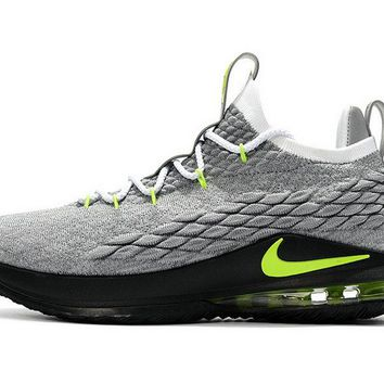 Latest and Newest LBJ 15 Nike Low Air Max 95 Cool Grey Green Brand sneaker