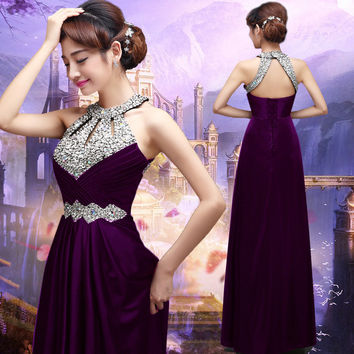Long Prom Dresses 2016 Sexy Women Elegant Floor-length Formal Wedding Party Bridesmaid Prom Gown