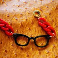 Candy Arm party nerd glasses chain links bracelet