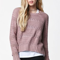 Me To We Stitch Mix Pullover Sweater - Womens Sweater