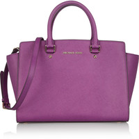 MICHAEL Michael Kors | Selma textured-leather tote | NET-A-PORTER.COM