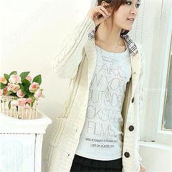 Cardigan Women Full Sleeve Long Loose Knitted Cardigans Hooded Sweater For Young Lady SM6
