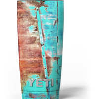 Bright Turquise Rusted Surface Yeti Rambler Skin Kit