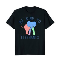 Be Kind to Elephants T Shirt Pastel Colors
