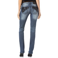 Miss Me Dark Romance Straight Leg Jean 33.5 Inseam