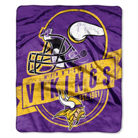 "Minnesota Vikings 50""x60"" Royal Plush Raschel Throw Blanket - Grandstand Design"