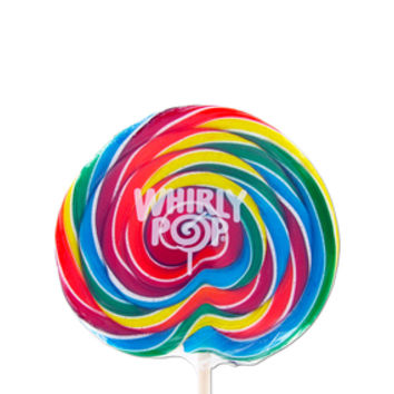 Whirly Pop 6-Ounce Swirl Suckers - Rainbow: 36-Piece Case