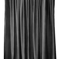 Modern Black Custom Made Size Length Drapes Rod Pocket Top Home Bedroom/Living Room Window Treatment Velvet Curtain 84 inch High Long Panel
