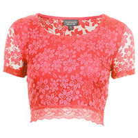 Lace Crop Tee - New In This Week - New In - Topshop