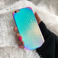 Iridescent Holographic Mermaid Unicorn iPhone Case, Hologram Case, Reflective Case, Rainbow Case, iPhone 7, iPhone 8, iPhone X Case