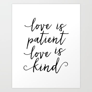Love Is Patient Love Is Kind Quote Enchanting Best Love Is Patient Love Is Kind Art Products On Wanelo