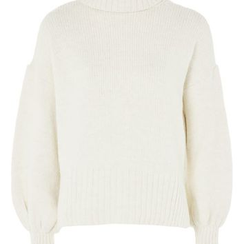 Super Soft Ribbed Roll Neck Sweater