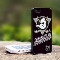 Anaheim Mighty Ducks Hockey - For iPhone 4,4S Black Case Cover