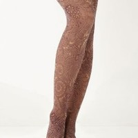 Plum Paisley Tights-Anthropologie.com