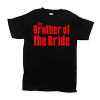 Brother Of The Bride Shirt Wedding Party T Shirt Brother In Law Gift Bridal Party TShirts Brides Brother Big Brother T-Shirt Mens Tee -SA798