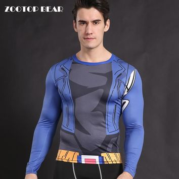 Trunks T shirt Anime Cosplay Shirts Dragon Ball Z Costume Compression T-shirts Crossfit Clothing Male Tops Tees 2017 ZOOTOP BEAR