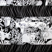 Baby Quilt, Nursery Bedding, Handmade Toddler Blanket, Shower Gift, Animals, Black and White