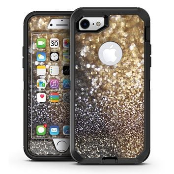 Gold and Black Unfocused Glimmering RainFall - iPhone 7 or 7 Plus OtterBox Defender Case Skin Decal Kit