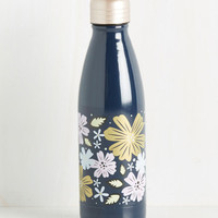 I Drink, Therefore I Am Travel Bottle in Blooms | Mod Retro Vintage Kitchen | ModCloth.com