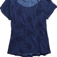 Aerie Women's Crochet Pattern T-shirt