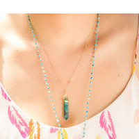 Chrysocolla Point Necklace