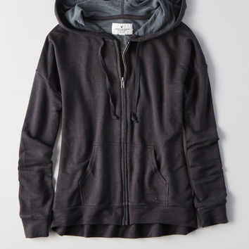 AEO Soft & Sexy Terry Hoodie, Urban Black