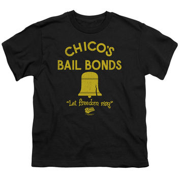 The Bad News Bears Chico's Bail Bonds Black Youth T-Shirt