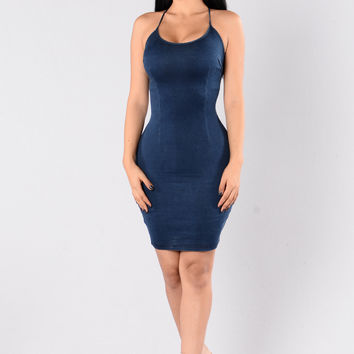 On The 6 Dress - Dark Denim