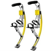 Adult Kangaroo Shoes Jumping Stilts Fitness Exercise (200-242lbs/90~110kg) Bouncing shoes (yellow)