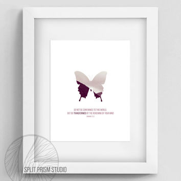 Original Wall Art, Pink Butterfly Wall Art, Butterfly, Butterfly Art, Bible Verse, Scripture, Uplifting, Spiritual, Nature Photography