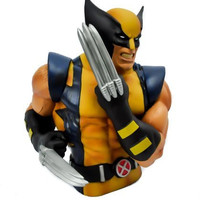 Wolverine X-Men Bust Statue Money Bank
