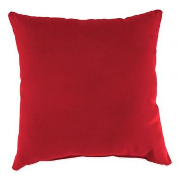 Sunbrella® 20-Inch Square Outdoor Throw Pillow in Canvas Jockey Red