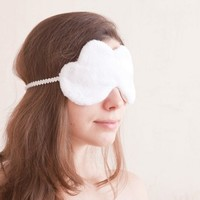 White Cloud Sleep Mask. eye mask, travel, gift, sleeping mask