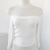 ALY OFF SHOULDER TOP - IVORY