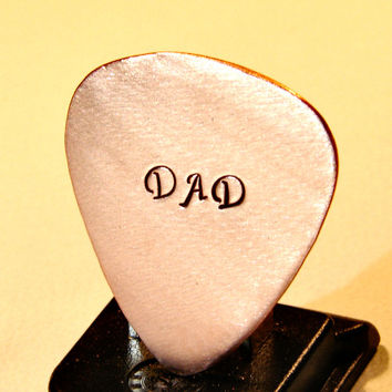 Guitar Pick Handmade for Dad or Fathers Day in Copper