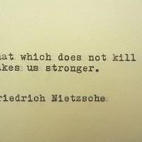 FRIEDRICH NIETSZCHE Quote Hand Typed Quote Made with Vintage Typewriter Nietzsche Quote