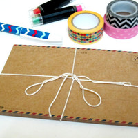 DIY Blank Kraft Postcard set (12pcs)