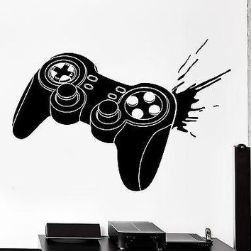 Vinyl Decal Wall Sticker Gaming Joystick Joypad Controller Gamer Kid's Room Man Cave Decor Unique Gift (z3097)