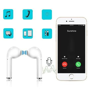 Twin Earbuds Ture Wireless Bluetooth Double Earphones Earpieces Stereo Music Headset For iPhone X 8 8 Plus With Battery Compartm