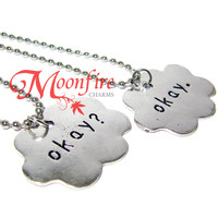 THE FAULT IN OUR STARS Okay? Okay Cloud Couple Necklace