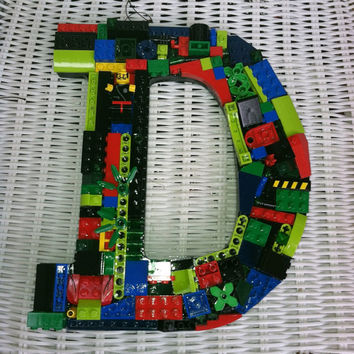 Custom wall  letter ,  D, toy bricks