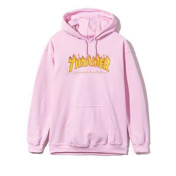 Cool Womens PINK Thrasher Sweatshirt Hoodies