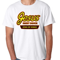 Men's T Shirt Jesus King Of Kings Sweet Funny Christian Tee