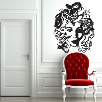Wall Vinyl Sticker Decals Mural Art Decor Gorgona Medusa Woman Head Snake 316