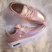 simpleclothesv  Nike Air Max Trending Glittering Logo Sport Running Sneakers Sport Shoes