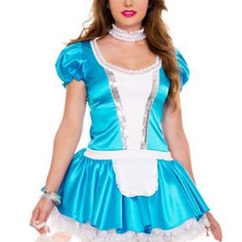 Atomic Blue Bunny Chaser Alice Inspired Costume